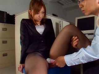 Aya Hasegawa is a sweet Japanese girl ready for office sex