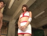 Stunning race queen in fancy stockings Seira Matsuoka gets a facial picture 12