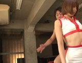Stunning race queen in fancy stockings Seira Matsuoka gets a facial