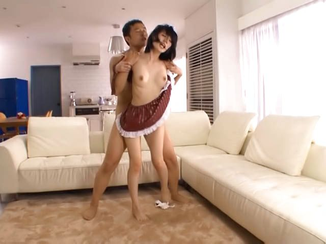Cute busty Asian maid Airi Suzumura has amazing sex