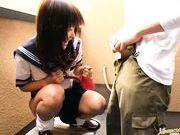 Ai Hiyoshi Hot Japanese schoolgirl has sex for fun