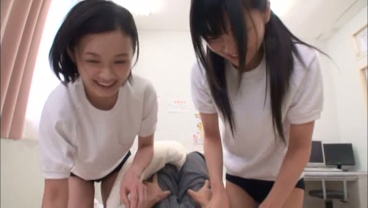 Kinky Tokyo schoolgirls gets pleasure of threesome sex action