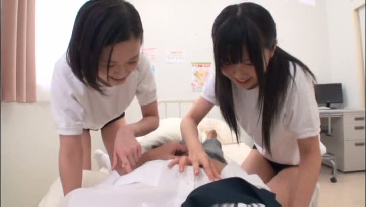 Kinky Tokyo schoolgirls gets pleasure of threesome sex action picture 13