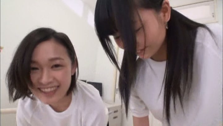 Kinky Tokyo schoolgirls gets pleasure of threesome sex action picture 7