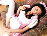 Yuri Sato Lovely Japanese maid has tight shaved pussy picture 9