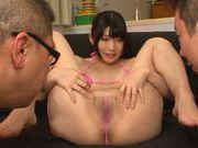 Savory Japanese beauty Nomiya Satomi has fun in a threesome