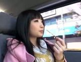 Kinky Japanese teen Arisa Nakano gets screwed in a car picture 10