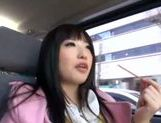Kinky Japanese teen Arisa Nakano gets screwed in a car picture 13