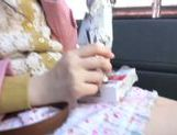 Kinky Japanese teen Arisa Nakano gets screwed in a car picture 8