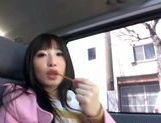 Kinky Japanese teen Arisa Nakano gets screwed in a car picture 9