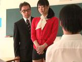 Sexy teacher Kana Yume likes to play with pussy