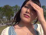 Sexy amateur Mika Nanjo deep throats guy bounces on dick picture 15
