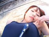 Hot amateur lady Ibuki gets her amazing anal hole stuffed with dildo picture 2