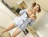 Riana Natsukawa Asian beauty gets a cum facial