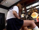 Yui Natsumi cumshot in school uniform picture 11