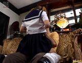 Yui Natsumi cumshot in school uniform