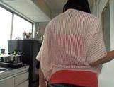 Amazing sweet Japanese girl wildest masturbation action picture 11