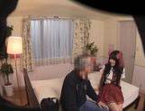 Seductive Japanese AV Model in a school uniform enjoys sex toys