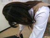 Saki Shiina gets cum on her body! picture 11