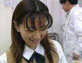 Saki Shiina gets cum on her body! picture 14