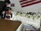 Frisky Japanese amateur has steaming sex on the floor picture 15