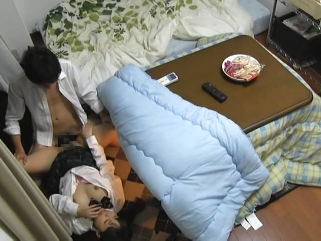 Frisky Japanese amateur has steaming sex on the floor