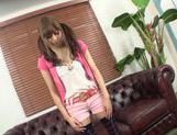 Cute Japanese teen amateur gets her slit teased POV picture 5