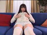 Nice Asian teen Tsubomi masturbates with toy insertion picture 11