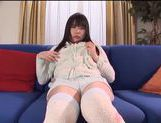 Nice Asian teen Tsubomi masturbates with toy insertion picture 12
