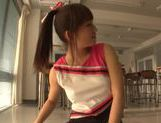 Japanese AV Model is a sexy teen cheerleader picture 1
