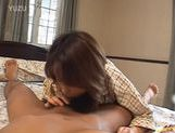 Hot Japanese babe gets cum on her body picture 12