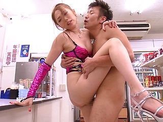 Asami Ogawa fucks for the shop's camera