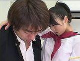 Japanese AV model in school uniform
