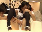 Sexy teen Nana Ogura takes a big cock and gets cum right in her mouth.