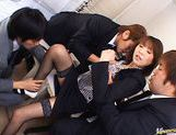 Jun Kusanagi Lovely Asian office girl gets fucked in the office by horny guys picture 7