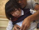 Sexy Japanese schoolgirl gets experience in hardcore anal banging picture 12