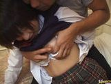 Sexy Japanese schoolgirl gets experience in hardcore anal banging picture 13