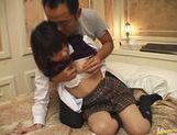 Sexy Japanese schoolgirl gets experience in hardcore anal banging picture 14