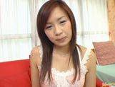 Wild babe Marin Hoshino receives facial cumshot picture 19