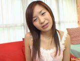Wild babe Marin Hoshino receives facial cumshot picture 20