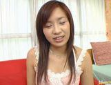 Wild babe Marin Hoshino receives facial cumshot picture 22