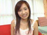 Wild babe Marin Hoshino receives facial cumshot picture 23