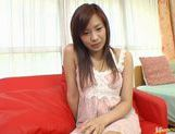 Wild babe Marin Hoshino receives facial cumshot picture 27