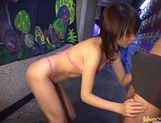 Sweet Asian Ai Himeno sucks cock like a pro until she gets all the cum.