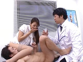 Japanese babe, Maki Hokujo, blows cock like a true goddess