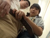 Playful Japanese teen deepthroats her lover and gives a hand job picture 13