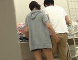 Playful Japanese teen deepthroats her lover and gives a hand job