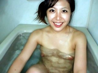 Cute Japanese model in hot sex action and hot blowjob