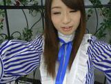 Sweet Asian Saki Hatsuki enjoys rubbing her tight vag