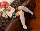 Chika Arimura sexy Asian chick in cosplay sex show